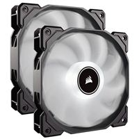 Corsair AF140 White LED Hydraulic Bearing 140mm Case Fan - Twin Pack