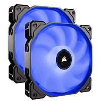 Corsair AF140 Blue LED Hydraulic Bearing 140mm Case Fan - Twin Pack