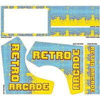 Micro Center Retro Arcade Bartop Cabinet Graphics Pack - Blue Pixel