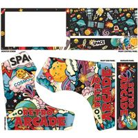 Micro Center Retro Arcade Bartop Cabinet Graphics Pack - Outer Space