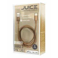 BayIt Home Automation Metallic Braided Lightning to USB Cables 5 Foot - Gold