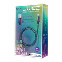 BayIt Home Automation Metal Charge & Sync Lightning to USB Cable 4 Foot - Iridescent