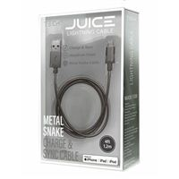 BayIt Home Automation Metal Charge & Sync Lightning to USB Cable 4 Foot - Space Grey