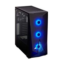 Corsair Carbide Series SPEC-DELTA RGB Tempered Glass Mid-Tower ATX Computer Case - Black