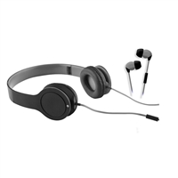Sentry Industries Earbud & Headphone - 2 Pack Black