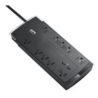 APC SurgeArrest Home/Office Surge Protector, 10 Outlets, 4,320 Joules, 2-USB Type-A w/ 6 ft. Cord - Black