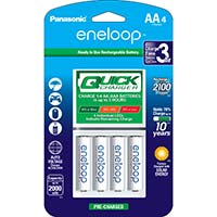 Panasonic Energy of America Quick Charger w/ 4 x AA Rechargeable Batteries