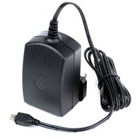 Raspberry Pi Official 5V 2.5A Power Supply - Black