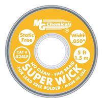 "MG Chemicals Super Wick Desoldering Braid Lead Free Solder Yellow #2, 0.05"" x 5'"