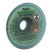 "MG Chemicals Fine Braid Super Solder Wick - 0.08"" x 5' Green"