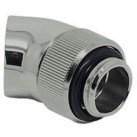 "EKWB G 1/4"" 45° Swivel Adapter Fitting Refurbished - Nickel"