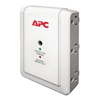 APC 6 Outlet Essential SurgeArrest Wall Mount Surge Protector - White