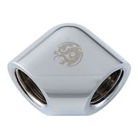 "Bitspower 90-Degree With Dual Inner G1/4"" Extender - Silver..."