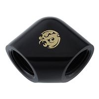 "Bitspower 90-Degree With Dual Inner G1/4"" Extender - Matte Black"