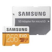 Samsung 256GB 100MB/s (U3) MicroSD Evo Memory Card with Adapter (MB-MP256GA/AM)