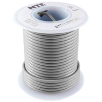NTE Electronics 22 Gauge Solid Hook-Up Wire 25 Foot - Gray