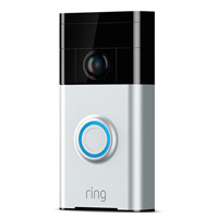 Ring Doorbell Security Camera - Silver
