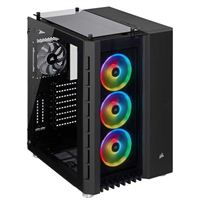 Corsair Crystal Series 680X RGB Tempered Glass ATX Mid-Tower Computer Case - Black