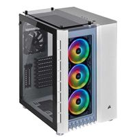 Corsair Crystal Series 680X RGB Tempered Glass ATX Mid-Tower Computer Case - White