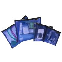 Travelon Set of 4 Mesh Pouches Assorted Sizes - Blue