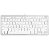 MacAlly Compact Aluminum USB Wired Keyboard - Silver