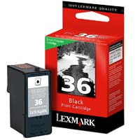 Lexmark 36 Black Return Program Ink Cartridge