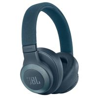 JBL E65BTNC Bluetooth Over-Ear Noise-Canceling Headphones - Blue