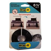Wrap-It Perforated Hook and Loop Tape Dispenser 6.5 ft. - Black