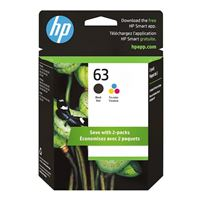 HP 63 Black/Tri-color Ink Cartridge Combo Pack