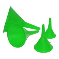 Grip Plastic Funnel Set - 4 Piece