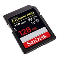 SanDisk 128GB Extreme Pro SDXC UHS-I Class 10/U3 Flash Memory Card