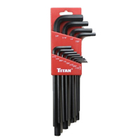 Titan Tools 13-Piece Long Arm SAE Hex Key Set