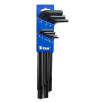 Titan Tools 9-Piece Extra-Long Arm Ball Tip Metric Hex Key Set