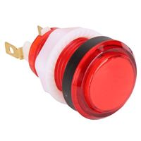 Baolian LED Illuminated Arcade Button - Red