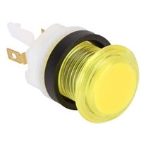 Baolian LED Illuminated Arcade Button - Yellow