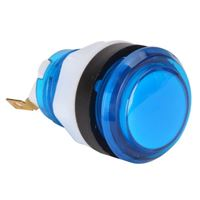 Baolian LED Illuminated Arcade Button - Blue
