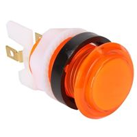 Baolian LED Illuminated Arcade Button - Orange