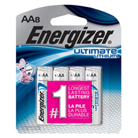 Energizer Ultimate Lithium AA Lithium Battery - 8 Pack