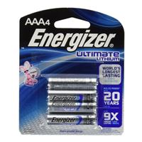Energizer Ultimate Lithium AAA Lithium Battery - 4 Pack