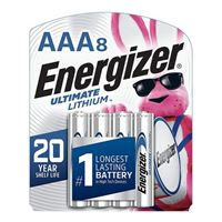 Energizer Ultimate Lithium AAA Lithium Battery - 8 Pack