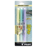 Pilot Frixion Pastel Erasable Highlighter 3 Pack - Yellow, Blue, Purple