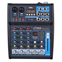 Pyle Pro PMXU43BT Compact 4-Channel Bluetooth-Enabled Audio Mixer
