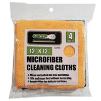"Grip Microfiber Cleaning Cloths 12"" x 12"" - 4 pack"