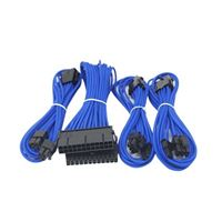 Micro Connectors Premium Sleeved PSU Cable Extension Kit - Blue