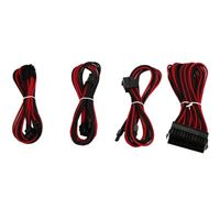 Micro Connectors Premium Sleeved PSU Cable Extension Kit - Red/ Black