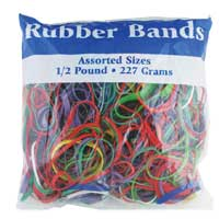 Lewis Associates of Ohio Assorted Rubber Bands, Multi Color