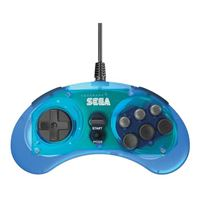 Retro-bit Sega Genesis 8-button Pad USB - Blue