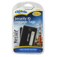 Cloudz Security Luggage ID Tags - Black