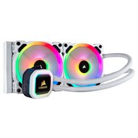 Corsair Hydro Series H100i Platinum 240mm RGB Water Cooling Kit - White
