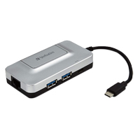 Verbatim USB-C 3-Port Hub w/ Gigabit Ethernet and Power Delivery